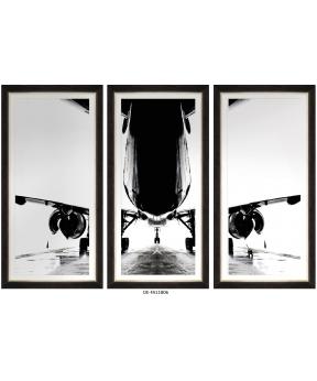 Obraz trzyczęściowy Aircraft Silhouette Tryptich 120x80 DE-FA11806...