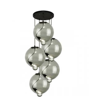 Żyrandol Modern Glass Bubble CO LA009/CO_smoky5 ALTAVOLA...