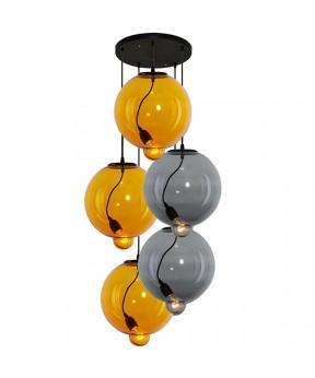 Żyrandol Modern Glass Bubble CO LA009/yellow_smoky...