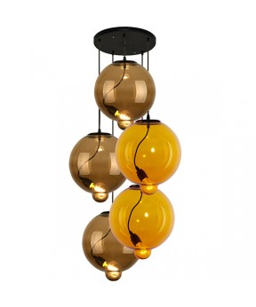 Żyrandol Modern Glass Bubble CO LA009/coffee_yellow...