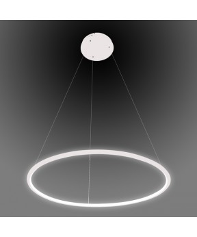 Lampa wisząca Ledowe Okręgi No.1 biała Φ60 cm in 3k...