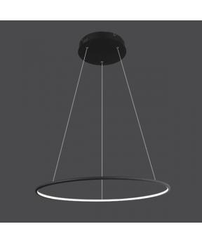 Lampa wisząca Ledowe Okręgi No.1 czarna Φ60 cm in 3k...