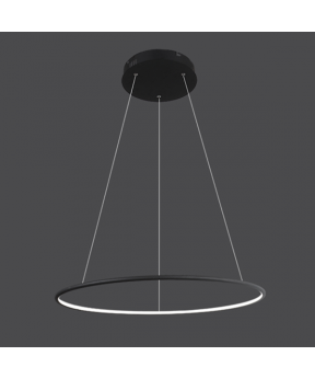 Lampa wisząca Ledowe Okręgi No.1 czarna Φ80 cm in 4k...