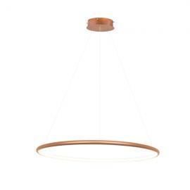 Lampa wisząca Ledowe Okręgi No.1 miedziana Φ60 cm in 3k...