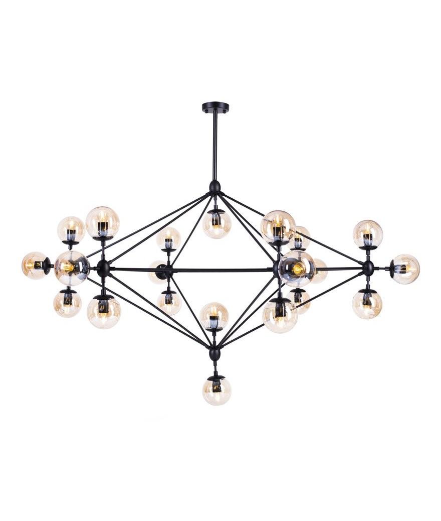 Lampa wisząca ASTRIFERO 21 bursztynowo czarna ST 9047 21 Step Into Design